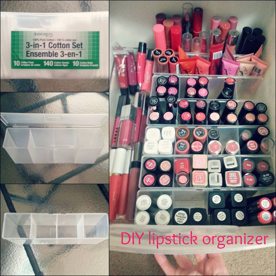 Diy Lipstick Organizer From Dollar Tree With Images Dollar Store Diy Organization Makeup Organization Diy Dollar Store Diy