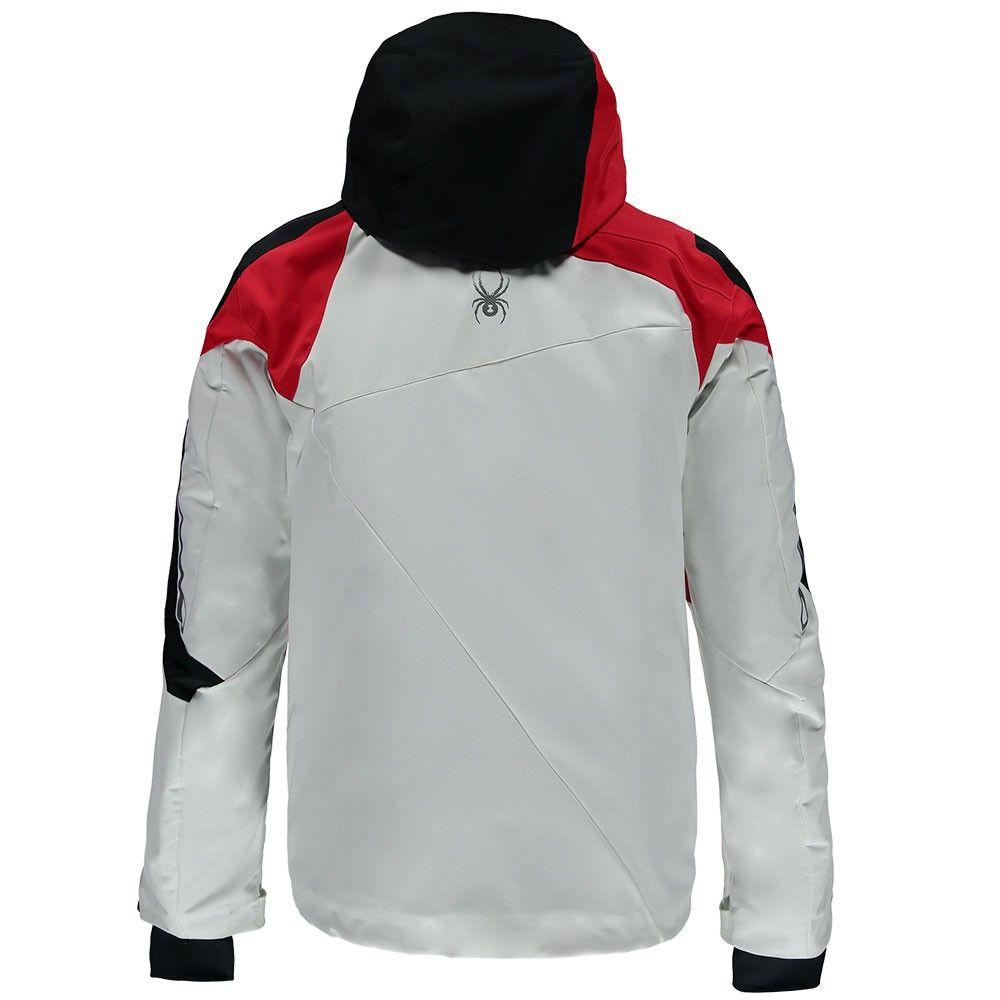 Spyder Titan Jacket Herren Skijacke weiß schwarz rot – Bild