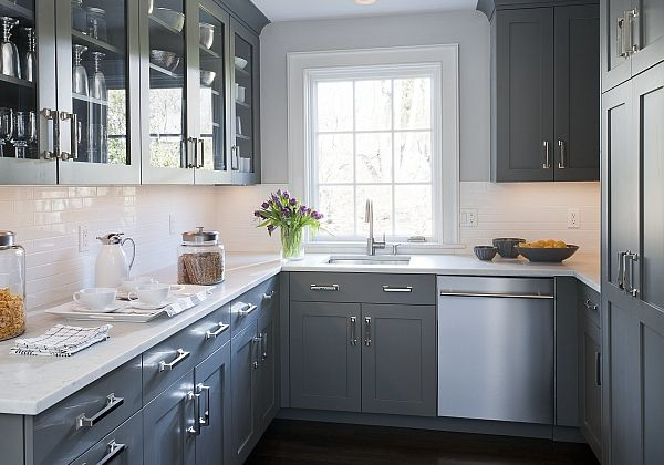 la cuisine grise plut t oui ou plut t non kitchen pinterest cuisines grises cuisines et. Black Bedroom Furniture Sets. Home Design Ideas