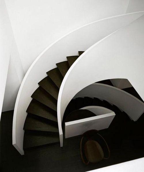 Déco Cage Escalier 50 Intérieurs Modernes Et Contemporains: #escalier #noir Et Blanc #Staircase