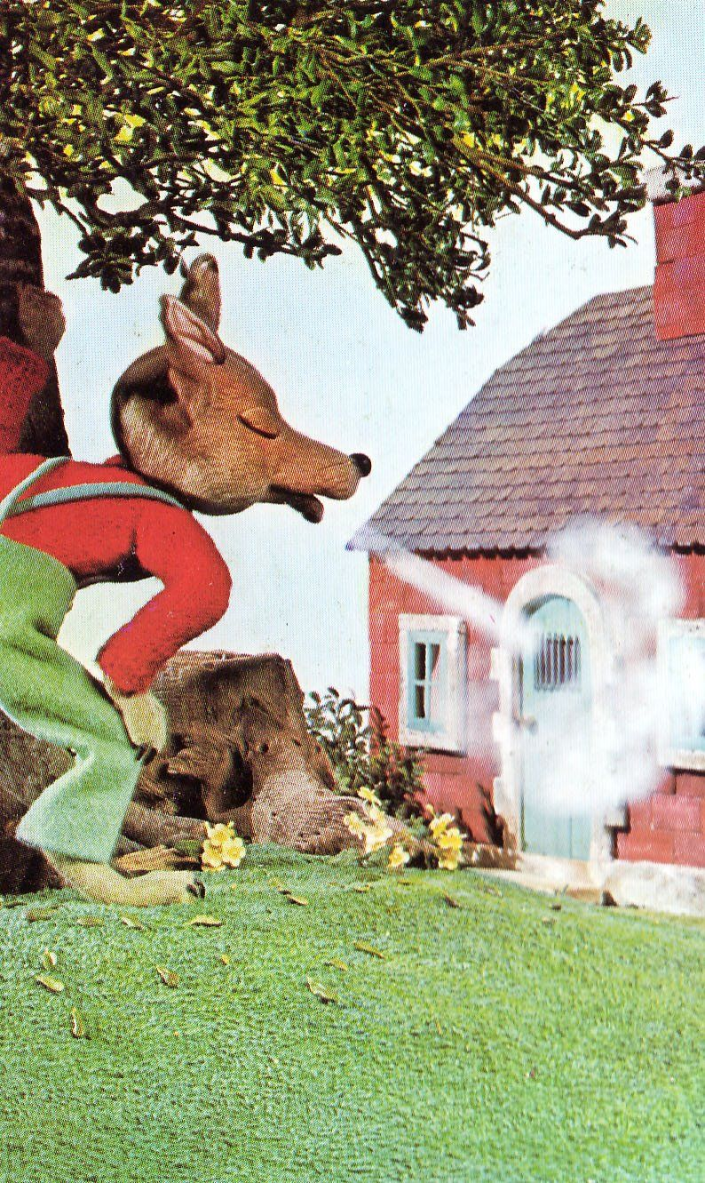 This Is An Image Of The Big Bad Wolf Trying To Blow Down The Brick