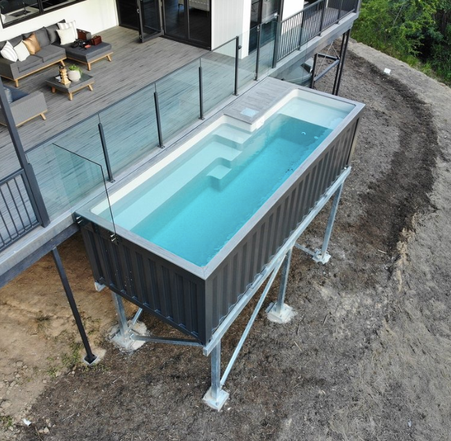 Stay Cool with a Shipping Container Pool