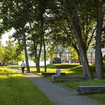 Long Dock Park River Center Park Landscape Park River New Meadows