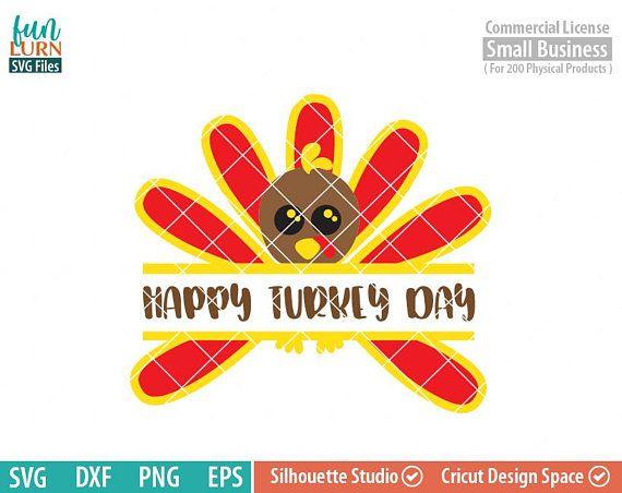 Cutest Turkey Monogram Split Turkey Monogram Happy Turkey Day Svg Thanksgiving Svg Happy Thanksgiving Svg Svg Dxf File Picture Design Vinyl Paper Happy Turkey Day
