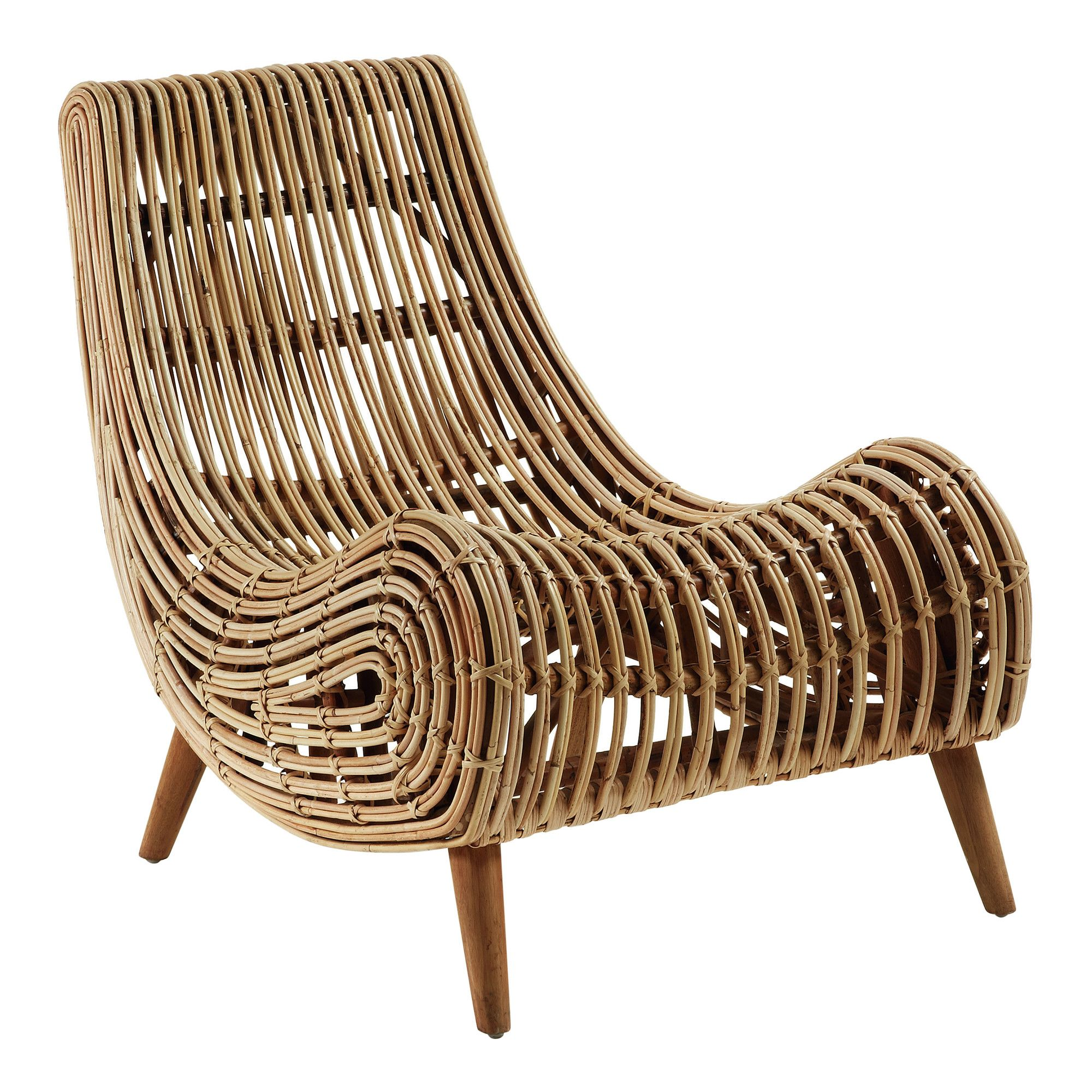 Tika Accent Chair Temple Webster Rattan Armchair Accent