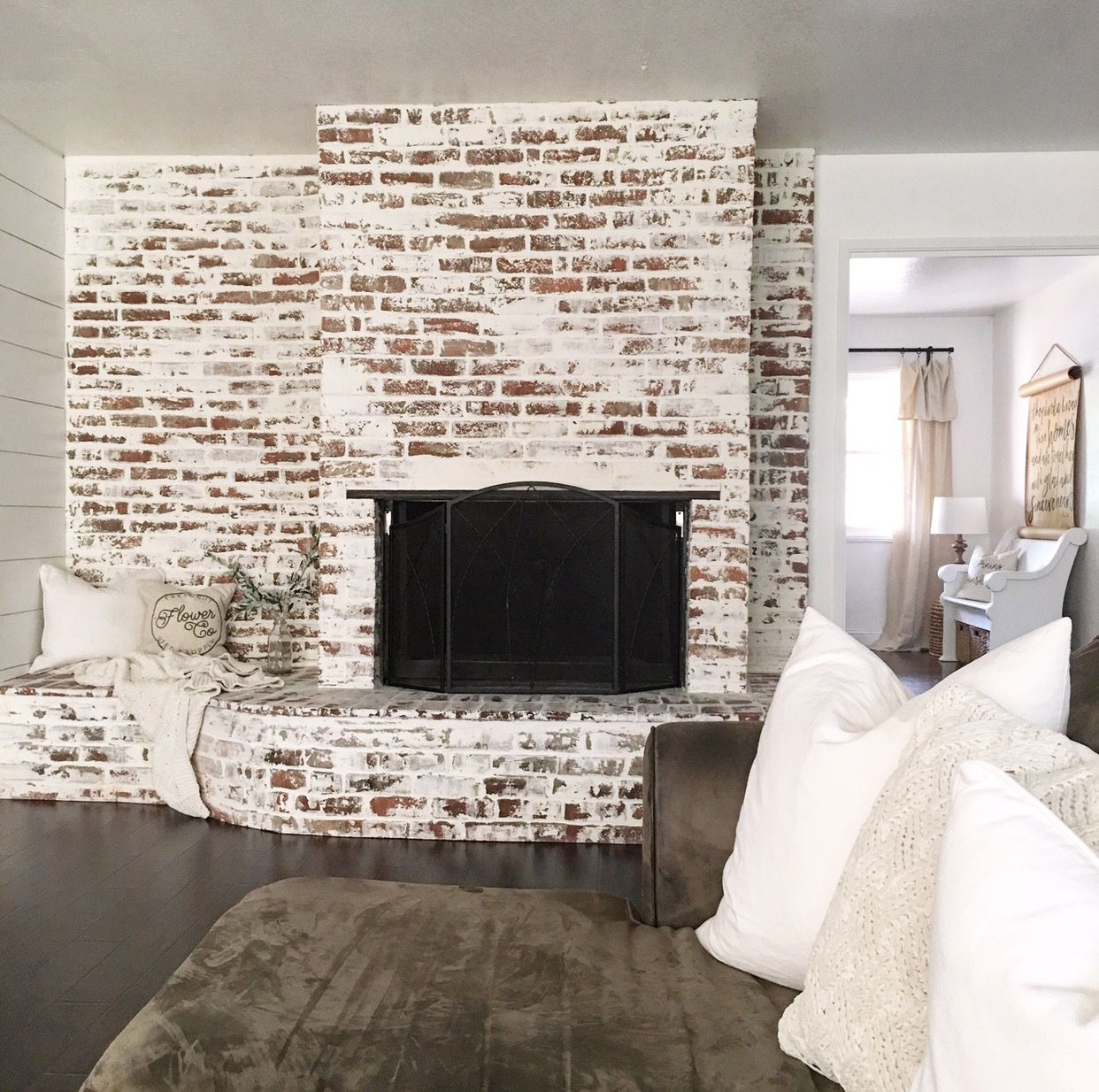Faux German Smear Fireplace Brick Fireplace Makeover Farmhouse