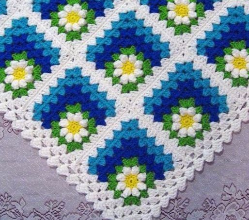 Free blanket pattern with crocheted squares - Crochet Pattern Yarns