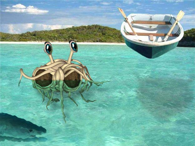 FSM The Flying Spaghetti Monster island time