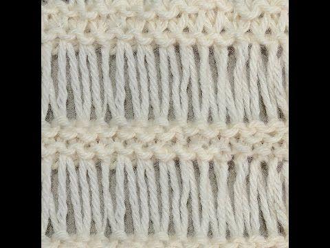 Tunisian Twisted Knit Stitch Youtube Tunusisleri Pinterest