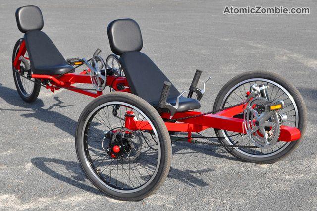 Atomiczombie The Viking Recumbent Tandem Tadpole Trike Trike Recumbent Bicycle Tandem Bike
