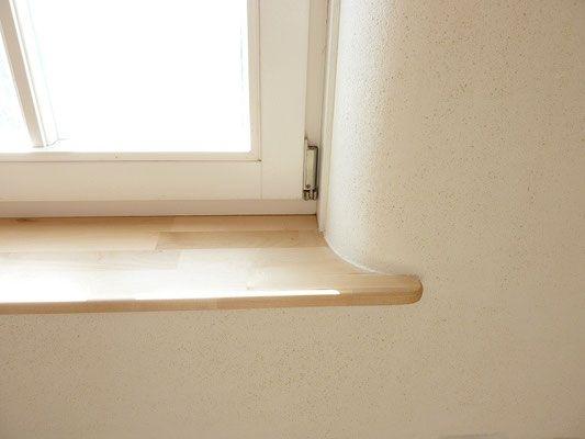 Fensterbrett Laibungen Abgerundet Lehmputz Wohnen House