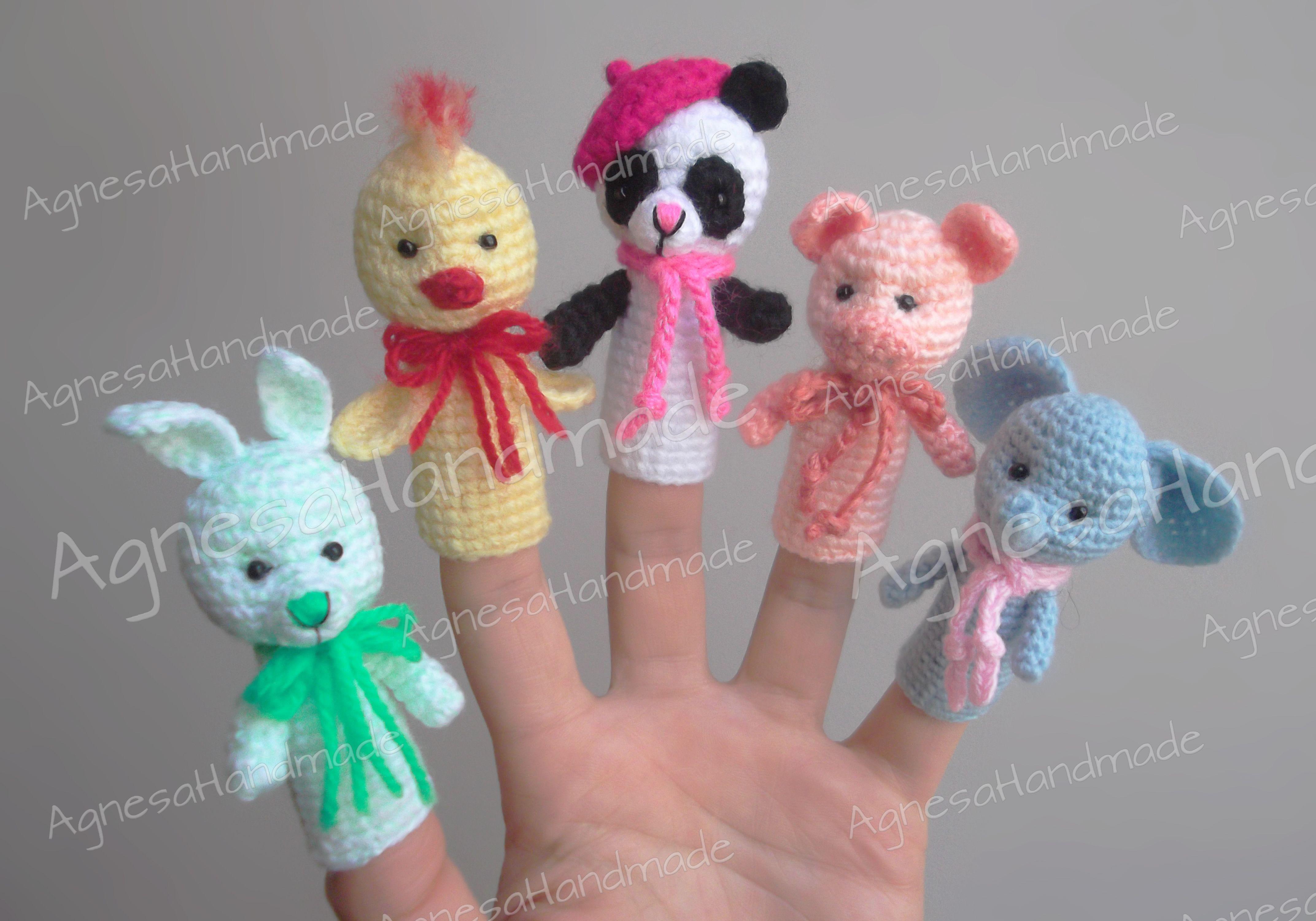 Crochet finger puppets   Finger Puppets   Fingerpuppen ...
