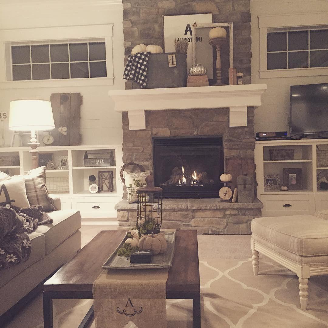Fireplace + cookies + fall night + kids home + hubby home = one happy mama.❤️…