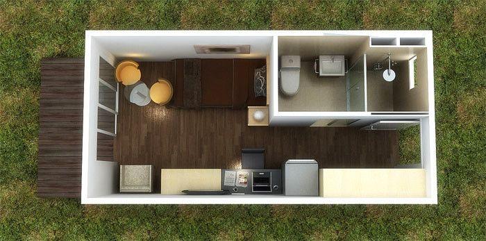 La chambre de conteneur du luxe 20ft 40ft a converti la for Chambre container
