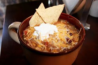 Crockpot Chicken Tortilla Soup- this sounds amazing. Must try it!