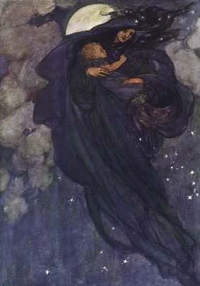 Marianne Stokes (1855-1927) - Blue Starlight Fairy Child. S)