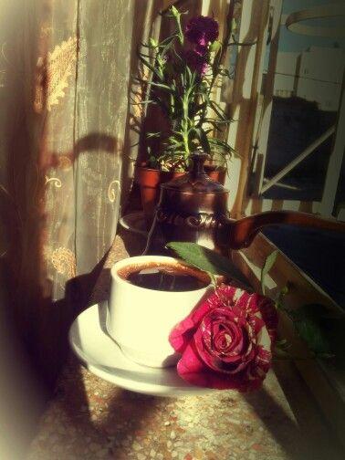 وقهوة بعبير الورد وشمس الصباح Glassware Tableware Mugs