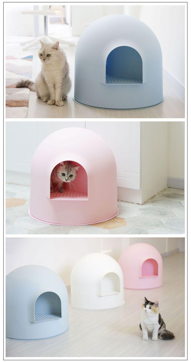 Pidan Snow House Igloo Cat Litter Box Blue Cajas De Arena Para