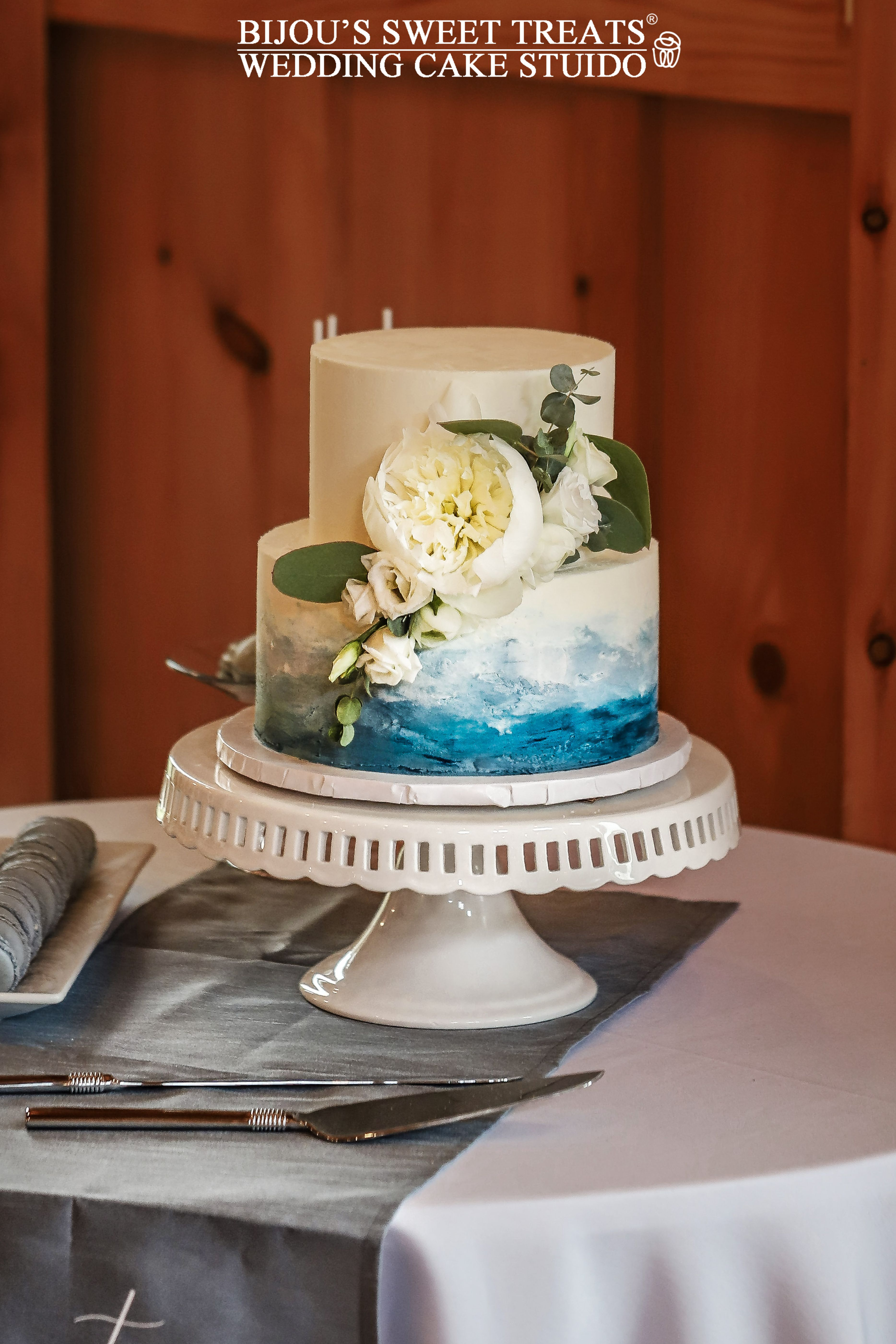 Water Color Painted Buttercream Wedding Cake By Bijou S Sweet