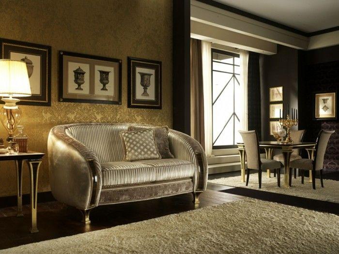 wohnideen wohnzimmer klassisches interieur in neutralen farben - farbe wohnzimmer ideen