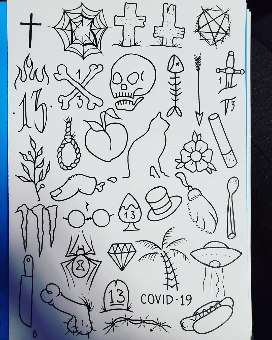 13 7 tip tattoo flash for friday the 13th calltext