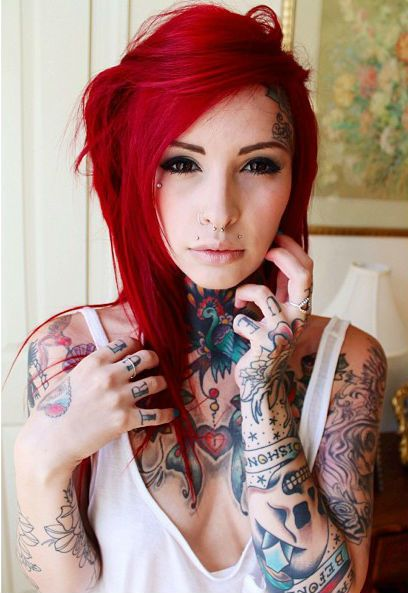 women short hair styles sweetcuties tattoos t 228 towierte frauen rotes haar und 1791 | 2f70728d32488f0097c92c38572a1791
