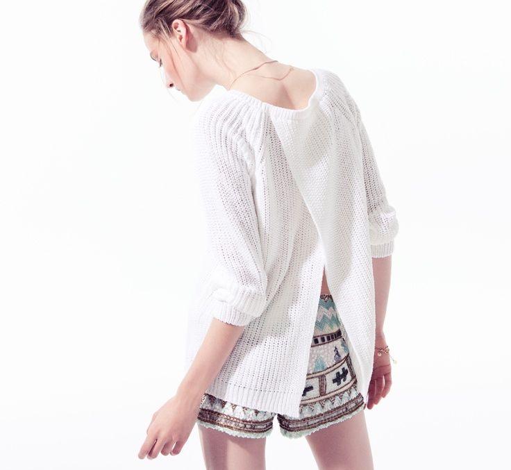 embellished shorts - maglia lunga
