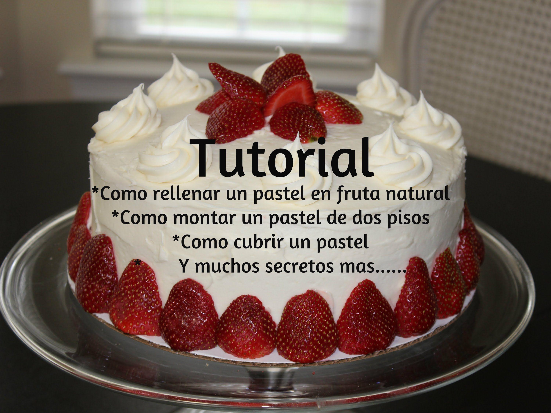 Como rellenar cubrir y montar un pastel muy sencillo con chantilly tutoriales pasteleria - Tutoriales de decoracion ...