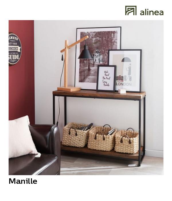 Alinea Manille Console Style Industriel Effet Bois Et Acier