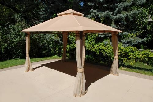 13 X 10 Roof Style Gazebo At Menards Gazebo Roof Styles Outdoor