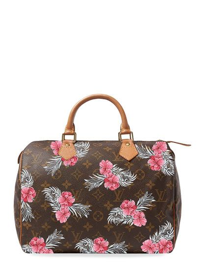 a833a7907 Hand Painted Customized Monogram Canvas Speedy 30 by Louis Vuitton at Gilt