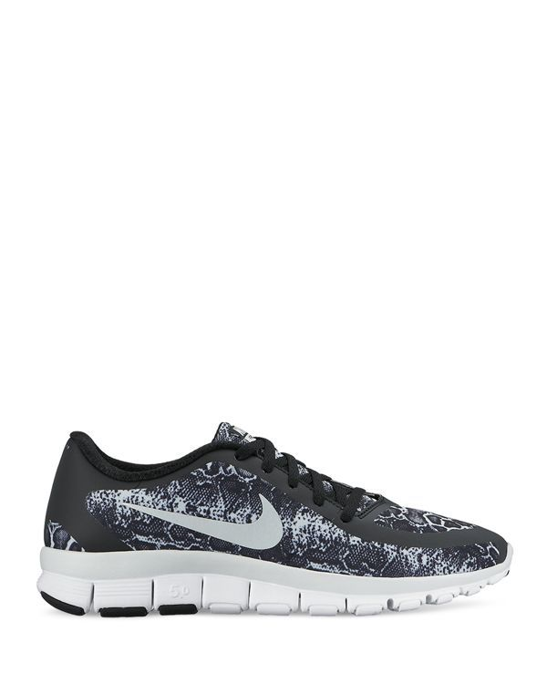 nike lace up sneakers - womens free 5.0v4
