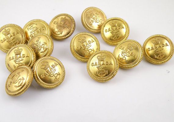 SMALL VICTORIAN Style Craft Buttons 1ST CLASS POST Vintage Antique Gold Colour