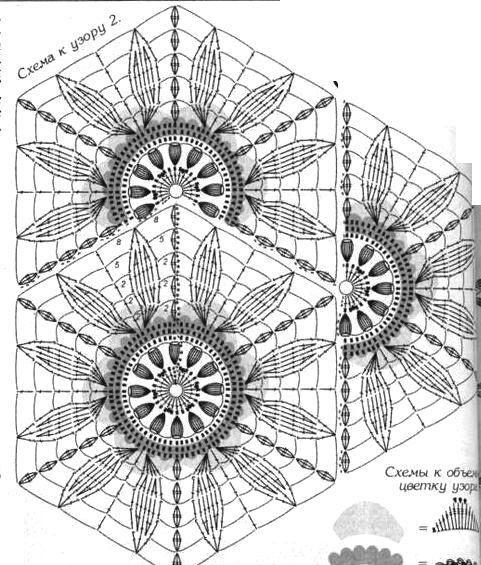 1-2150086ф.jpg | Crochet, Crochet motif and Crochet diagram