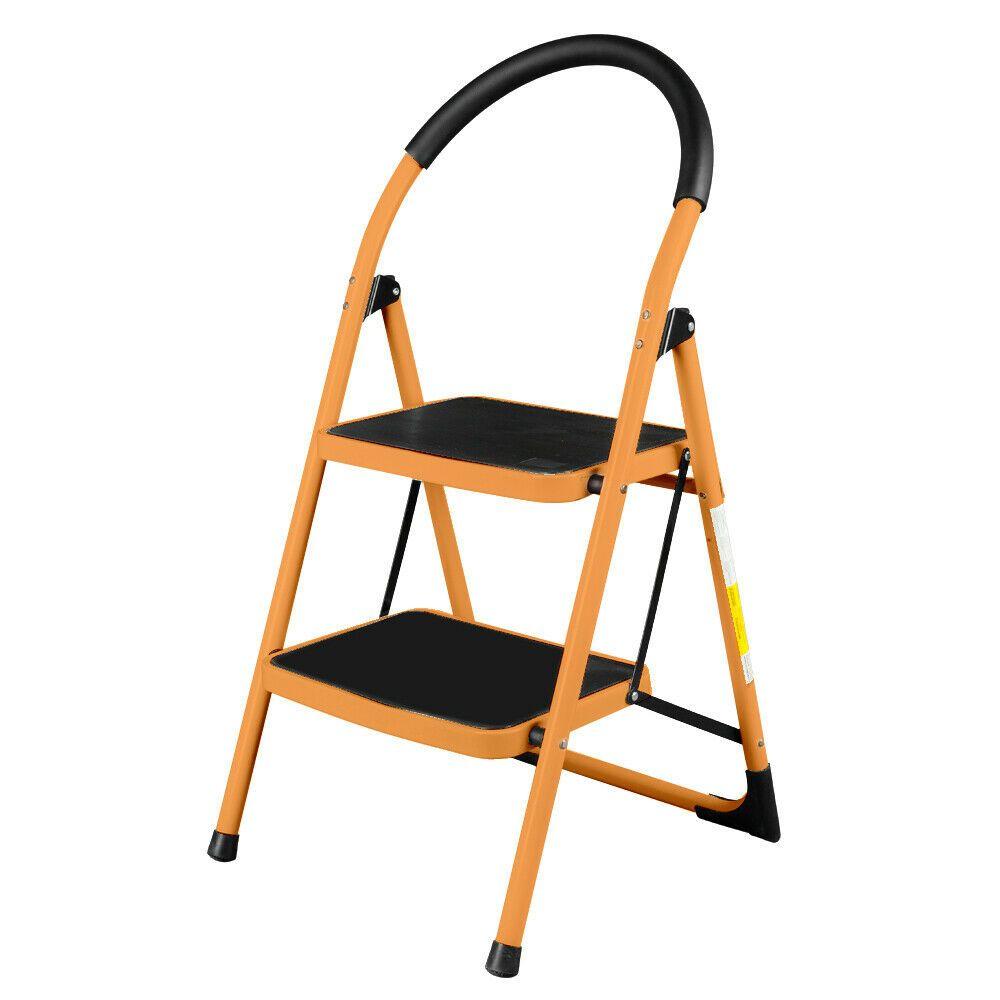 2 Step Ladder Folding Stool Heavy Duty Industrial Lightweight 330lbs Capacity 5012129587312 Ebay In 2020 Step Ladders Folding Stool Step Stool