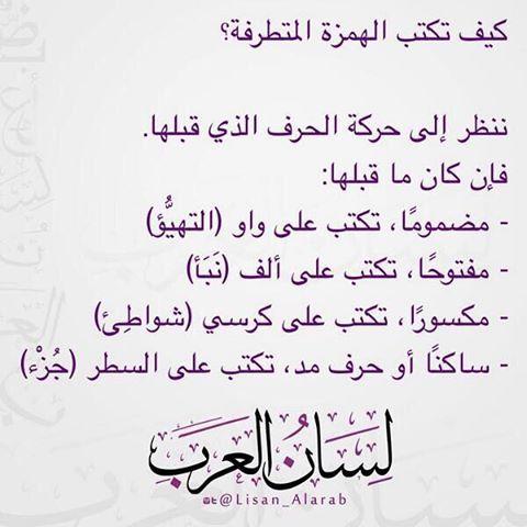 أصعب شيء في العربي الهمزات Learn Arabic Language Arabic Language Learning Arabic