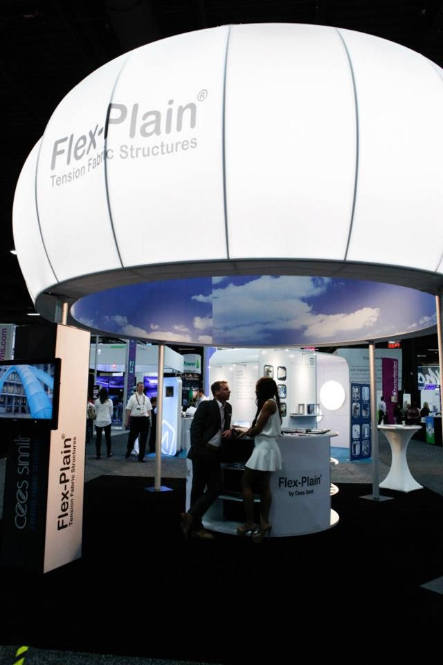 Fabric Exhibition Stand Examples : Flex plain at exhibitor tension fabric structures