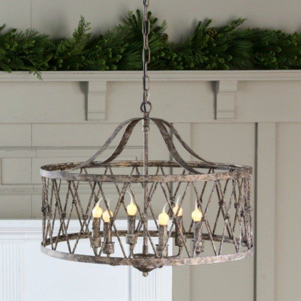 Wine Country 6 Light Drum Chandelier | Drum chandelier, Drums and ...
