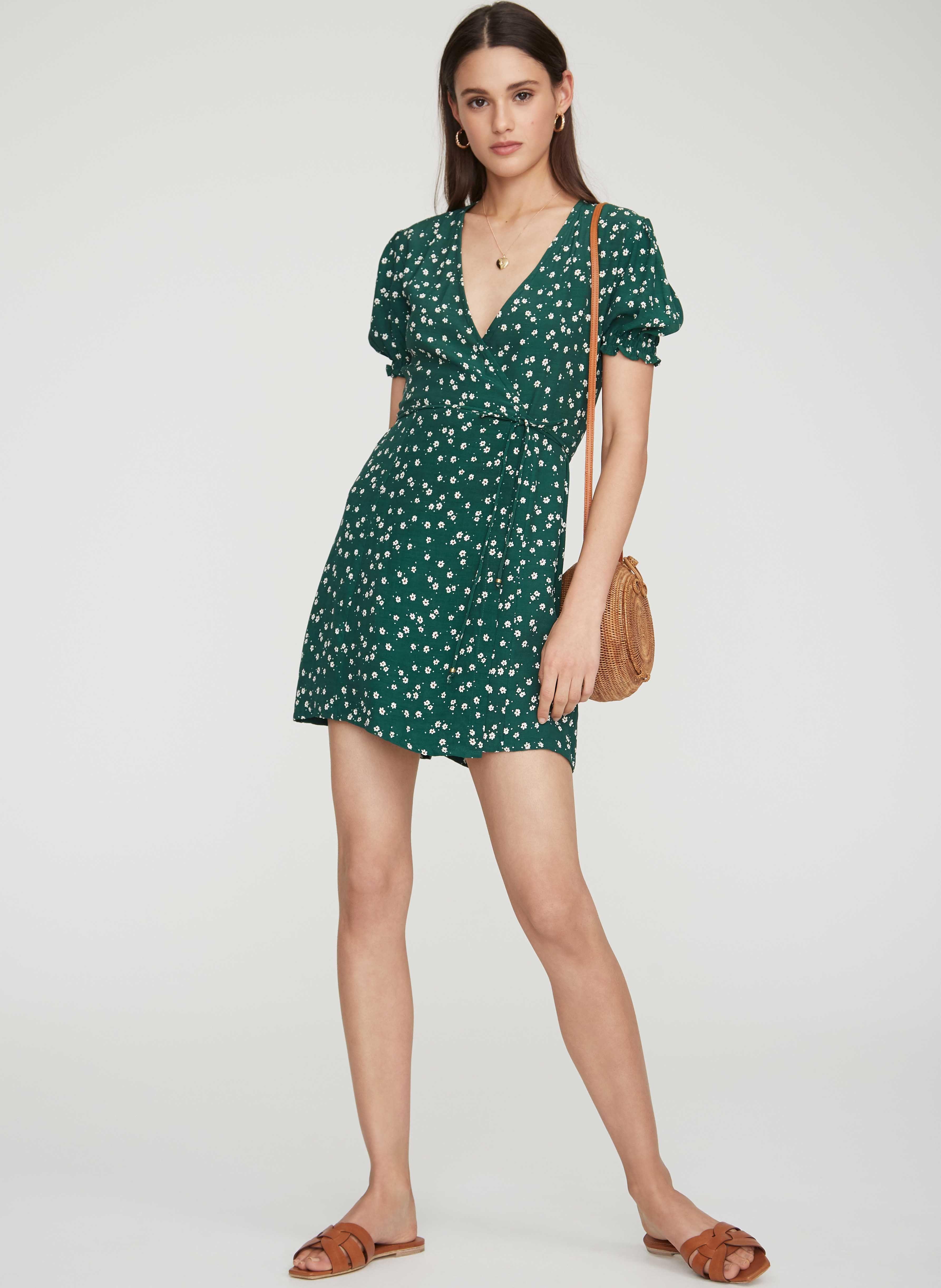 4f4d764abc0 Betina floral print - green - mira dress in 2019