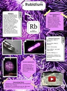 Rubidium is a chemical element with symbol Rb and atomic ...
