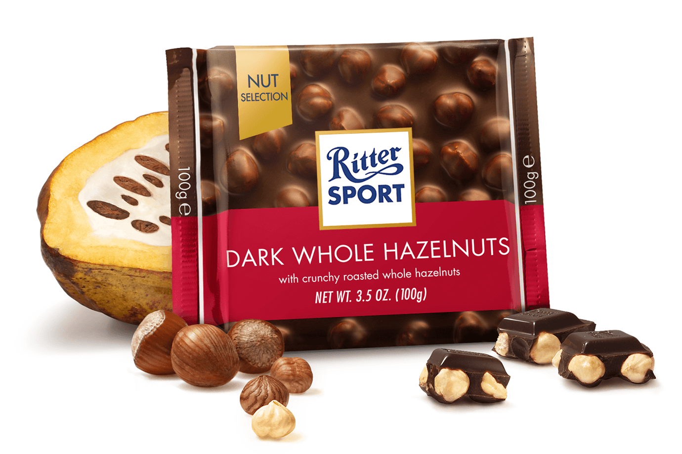 Ritter Sport Nut Selection Dark Chocolate Whole