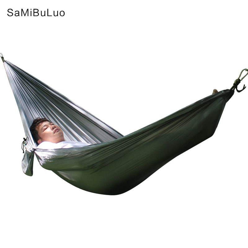 The Double Widened Camping Hammock 270*140cm Double People Hammc Lightweight Nylon Portable Hammocks Hanging Chair Bed Swing New Outdoor Furniture