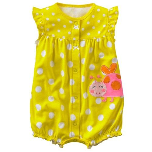 Wholesale 5 PCS Brand New Baby Romper Ruffled Sleeves Bodysuit Kid's Garment Yellow Color  http://www.pandawill.com/wholesale-5-pcs-brand-new-baby-romper-ruffled-sleeves-bodysuit-kids-garment-yellow-color-p75093.html