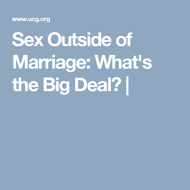 Finding sex outside of marriage