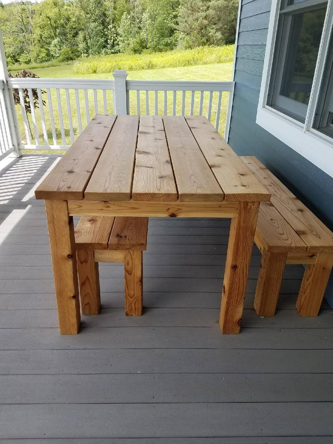 Groovy Outdoor Cedar Picnic Table Set In 2019 Tables Wooden Creativecarmelina Interior Chair Design Creativecarmelinacom
