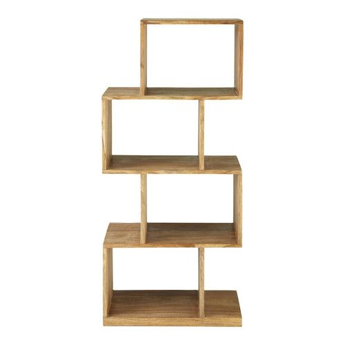 Etagere Destructuree 4 Cases En Sheesham Massif Contemporary