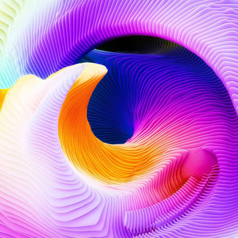 Spirals Digital Artworks by Ari Weinkle Inspiration