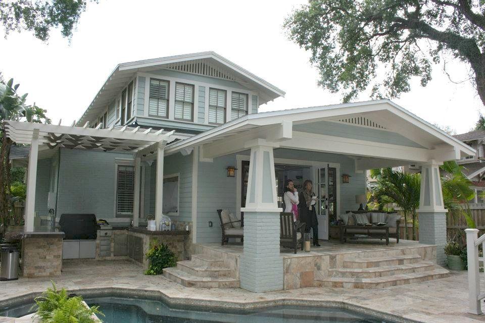 Back porch, pergola & outdoor kitchen! | Warm Weather ...