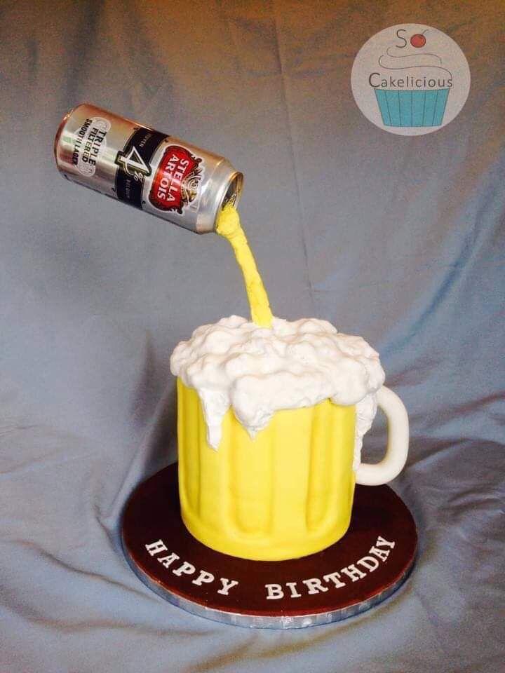 Gravity-defying beer cake #gravitycake