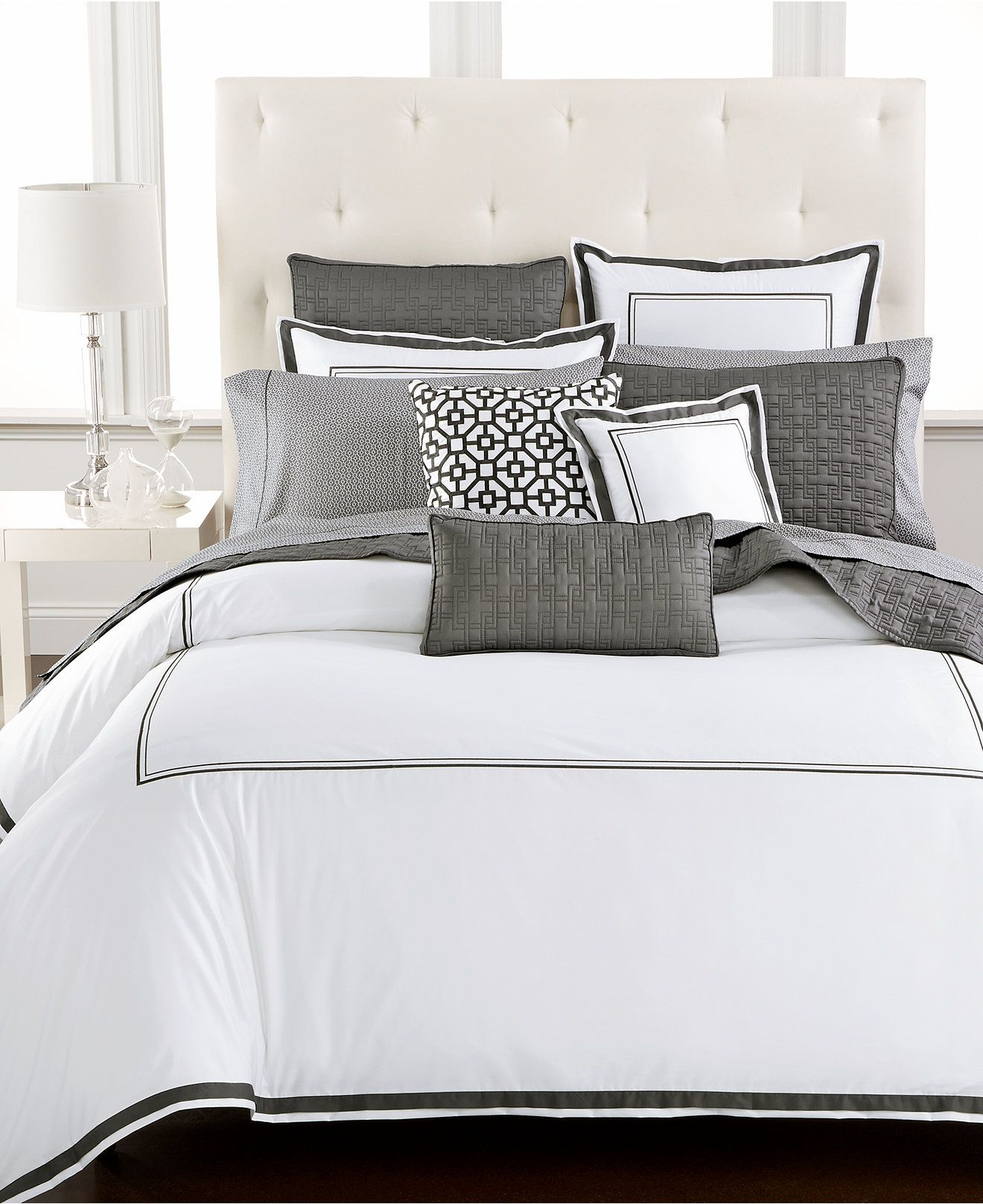 Embroidered Frame Bedding Collection Created For Macy S Hotel